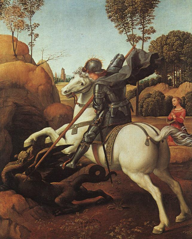 Raphael St.George and the Dragon Sweden oil painting art