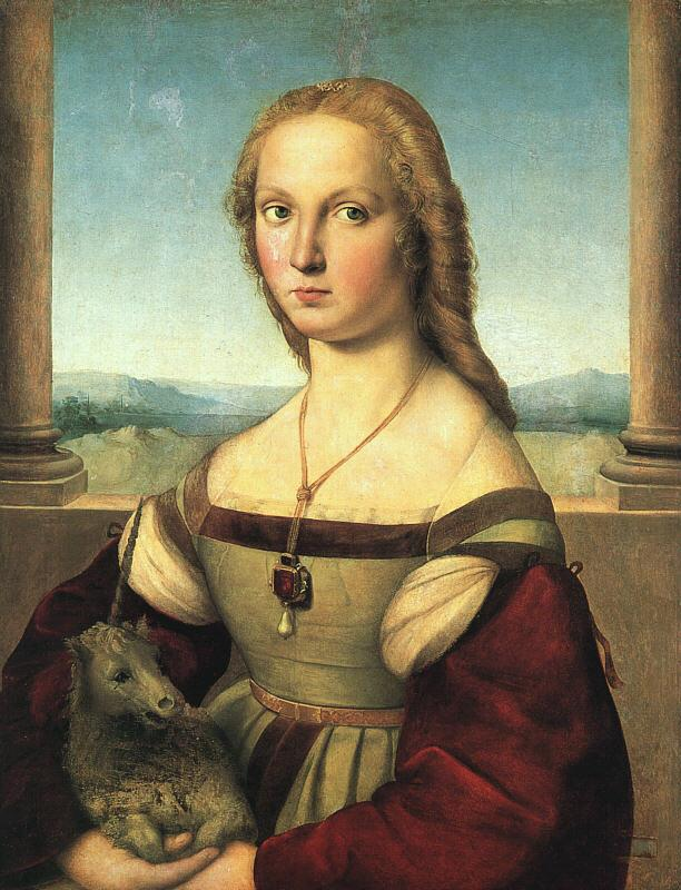 Raphael The Woman with the Unicorn Sweden oil painting art