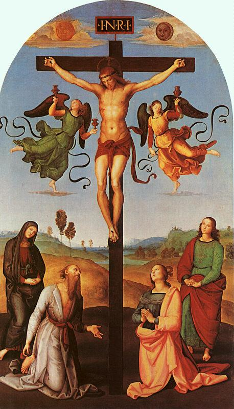 Raphael Christ on the Cross with the Virgin, Saint Jerome, Mary Magdalene and John the Baptist Sweden oil painting art