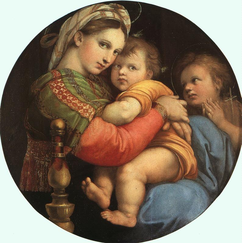 Raphael THE MADONNA OF THE CHAIR or Madonna della Sedia Sweden oil painting art