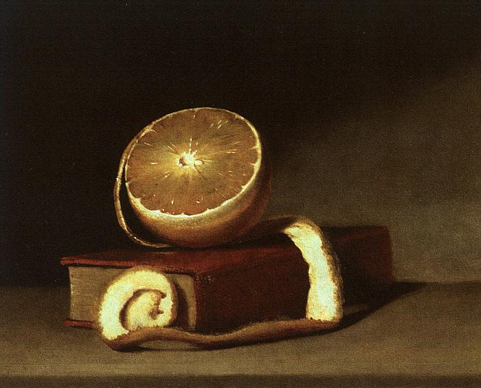 Raphaelle Peale Still Life with Orange and Book Sweden oil painting art
