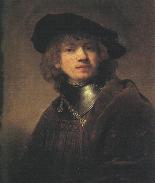 Rembrandt Self Portrait as a Young Man Sweden oil painting art