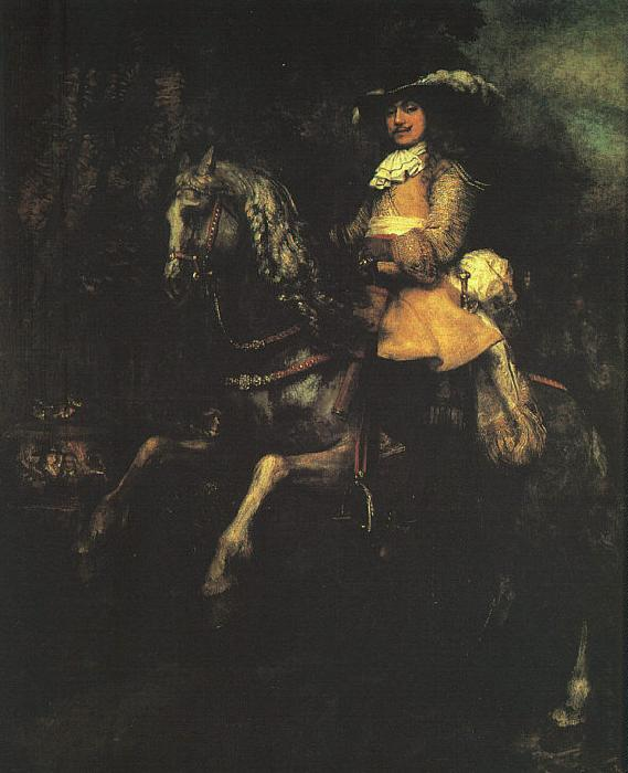 Rembrandt Frederick Rihel on Horseback Sweden oil painting art