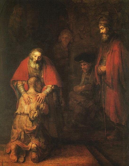 Rembrandt The Return of the Prodigal Son Sweden oil painting art