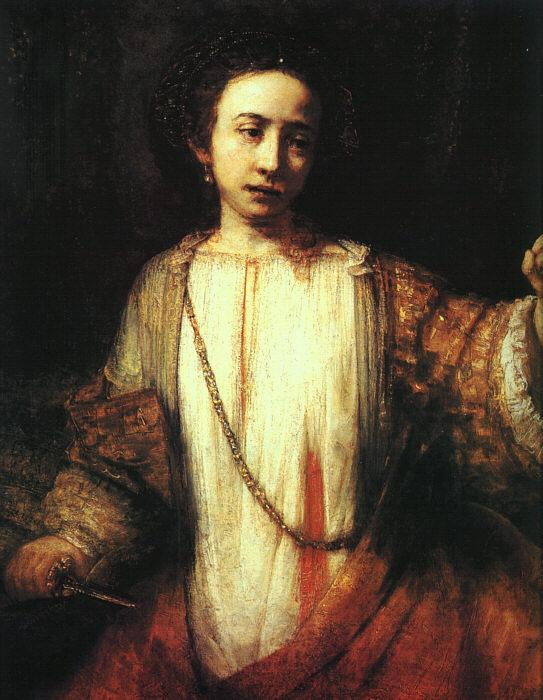 Rembrandt Lucretia Sweden oil painting art