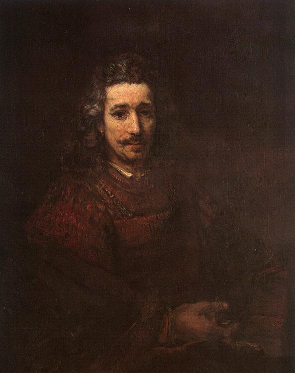 Rembrandt Man with a Magnifying Glass Sweden oil painting art