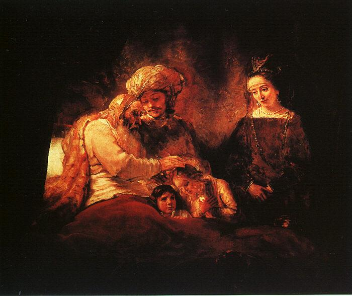Rembrandt Jacob's Blessing Sweden oil painting art