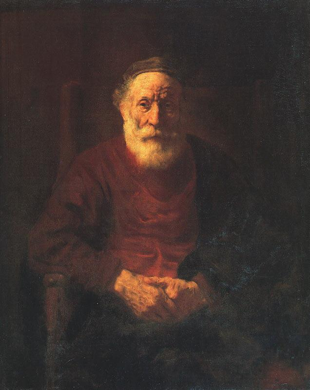 Rembrandt Portrait of an Old Jewish Man Sweden oil painting art