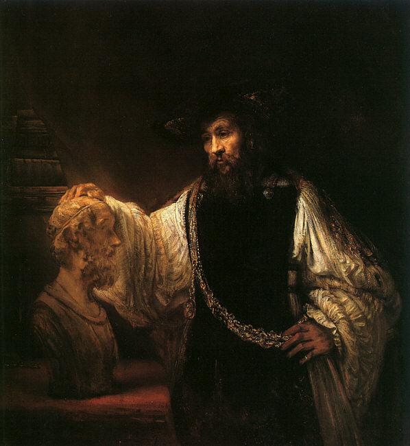 Rembrandt Aristotle with a Bust of Homer Sweden oil painting art