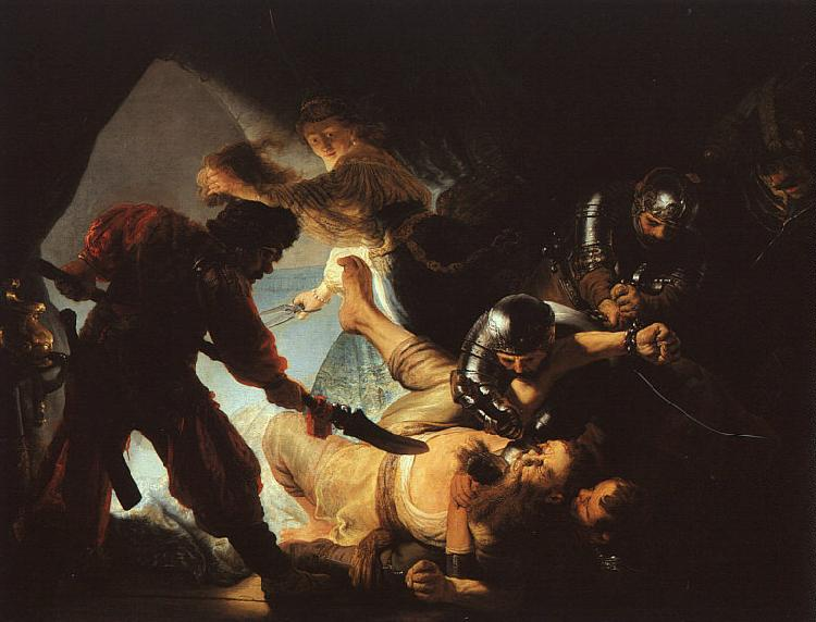 Rembrandt The Blinding of Samson Sweden oil painting art