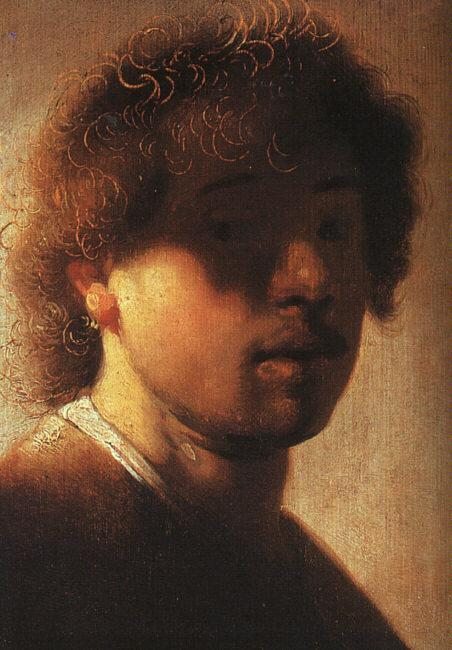 Rembrandt Self Portrait  ffcx Sweden oil painting art