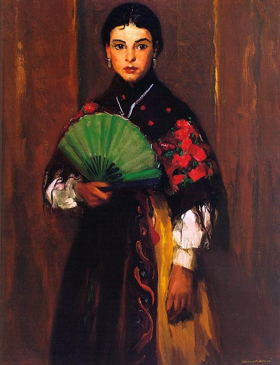 Robert Henri Spanish Girl of Segovia Sweden oil painting art