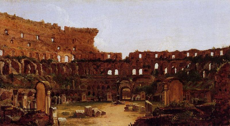 Thomas Cole Interior of the Colosseum Rome oil painting image