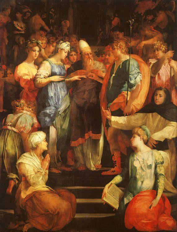 Rosso Fiorentino Marriage of The Virgin Sweden oil painting art