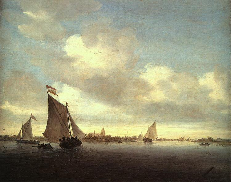 Saloman van Ruysdael Marine Sweden oil painting art