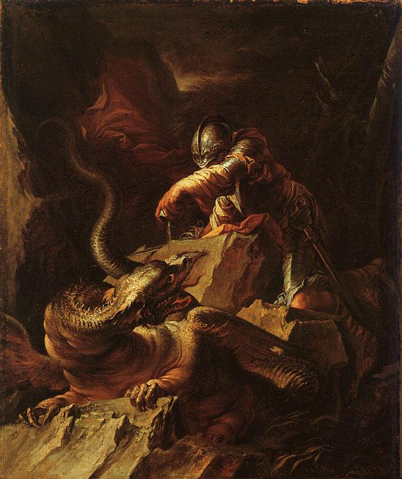 Salvator Rosa Jason Charming the Dragon Sweden oil painting art