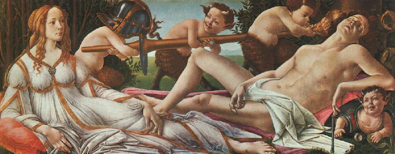 Sandro Botticelli Venus and Mars oil painting image