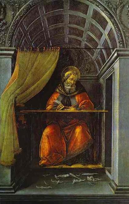 Sandro Botticelli St. Augustine in Cell oil painting image