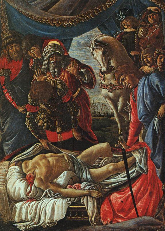 Sandro Botticelli The Discovery of the Body of Holofernes oil painting image
