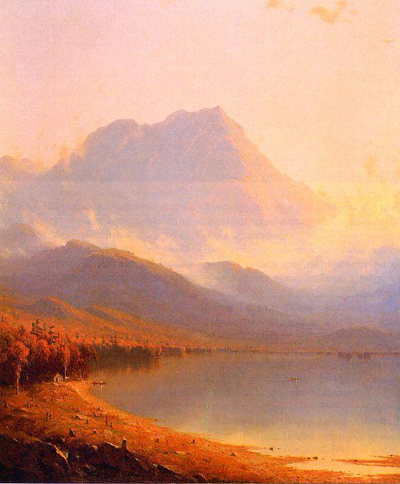 Sanford Robinson Gifford Morning in the Adirondacks Sweden oil painting art