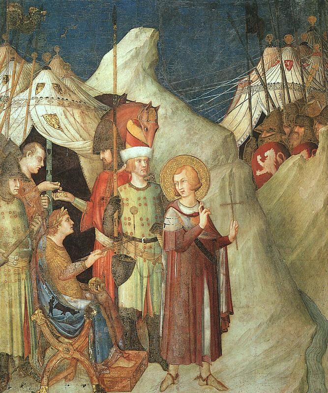 Simone Martini St.Martin Renouncing the Sword oil painting image