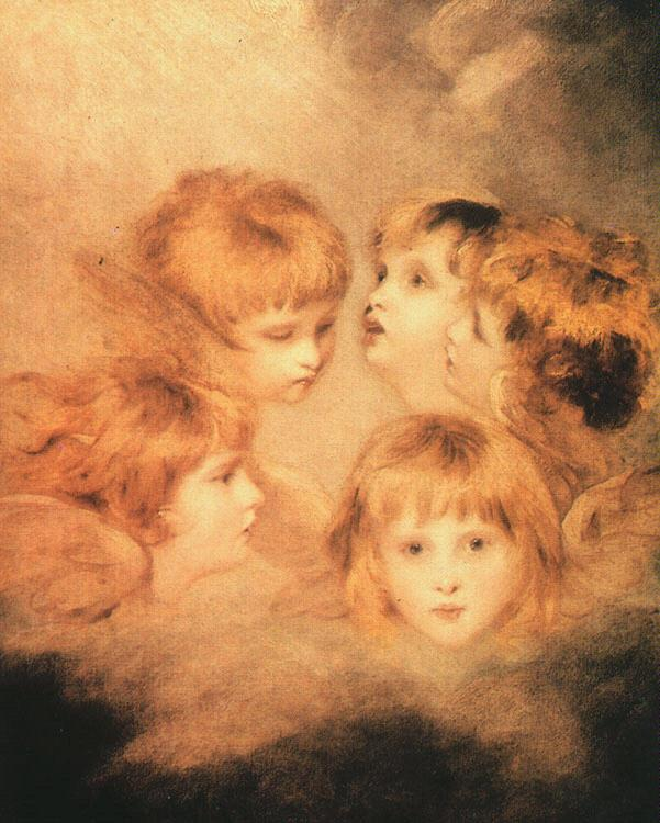 Sir Joshua Reynolds Heads of Angels Sweden oil painting art