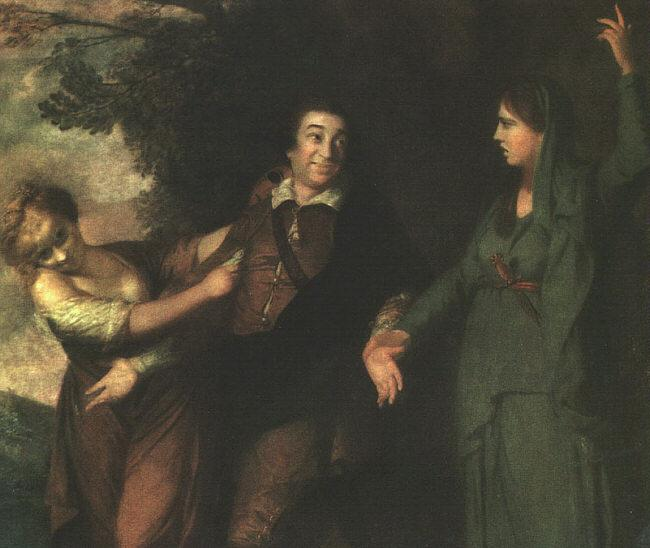 Sir Joshua Reynolds Garrick Between Tragedy and Comedy Sweden oil painting art