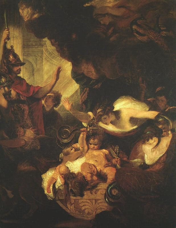 Sir Joshua Reynolds The Infant Hercules Strangling the Serpents Sent by Hera Sweden oil painting art