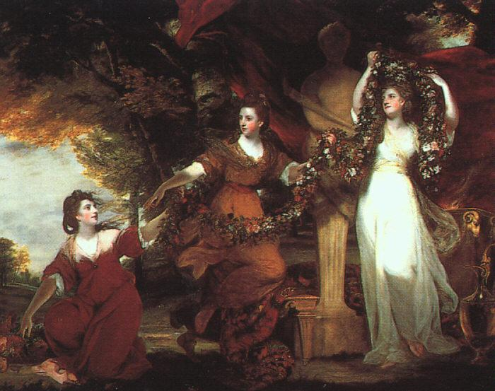 Sir Joshua Reynolds Ladies Adorning a Term of Hymen Sweden oil painting art