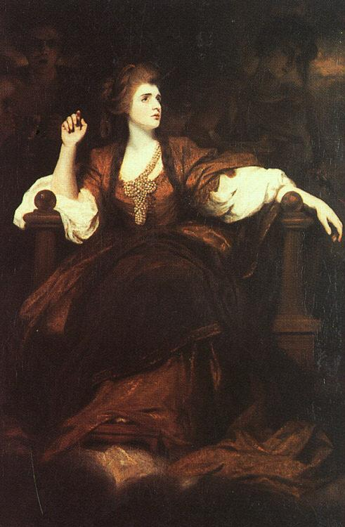 Sir Joshua Reynolds Portrait of Mrs Siddons as the Tragic Muse Sweden oil painting art