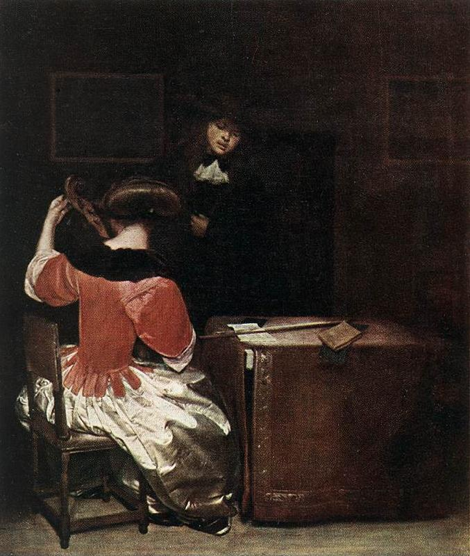 TERBORCH, Gerard The Music Lesson r oil painting image