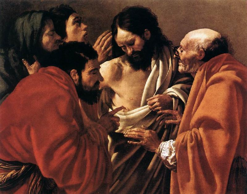 TERBRUGGHEN, Hendrick The Incredulity of Saint Thomas a oil painting image