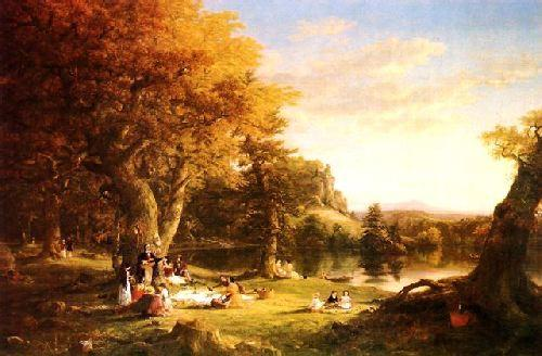 Thomas Cole The Hunter's Return Sweden oil painting art
