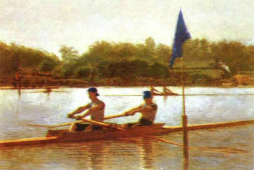 Thomas Eakins Biglen Brothers, Turning the Stake Sweden oil painting art