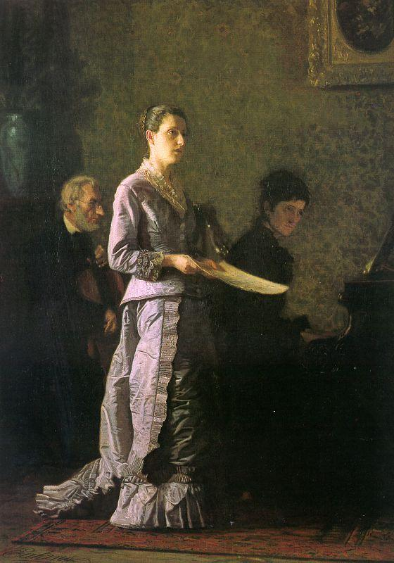 Thomas Eakins The Pathetic Song Sweden oil painting art