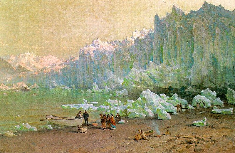 Thomas Hill The Muir Glacier in Alaska oil painting image