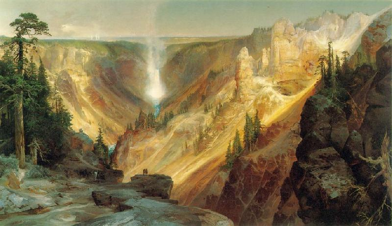 Thomas Moran Grand Canyon of the Yellowstone Sweden oil painting art