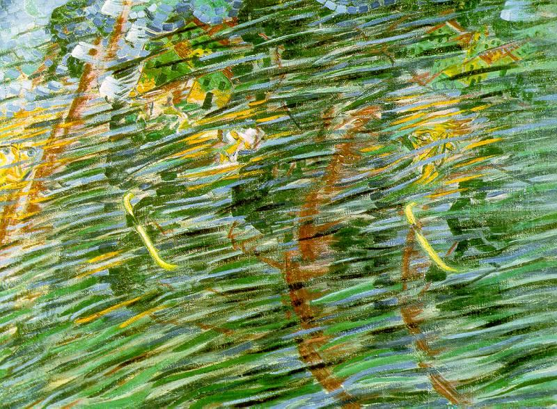 Umberto Boccioni States of Mind I: Those Who Leave oil painting image