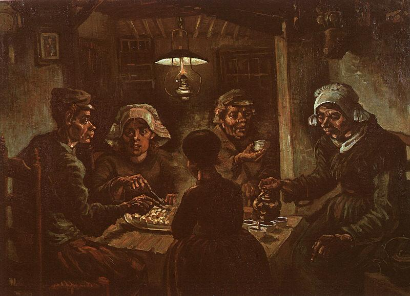 Vincent Van Gogh The Potato Eaters oil painting image