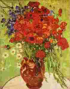 Vincent Van Gogh Red Poppies and Daisies oil painting image