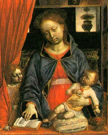 Vincenzo Foppa Madonna and Child with an Angel  k oil painting image