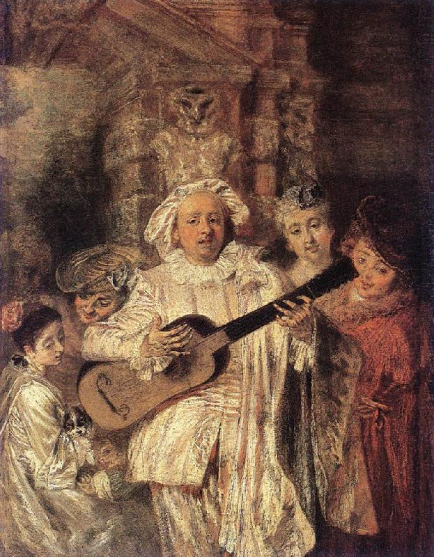 WATTEAU, Antoine Gilles and his Family oil painting image