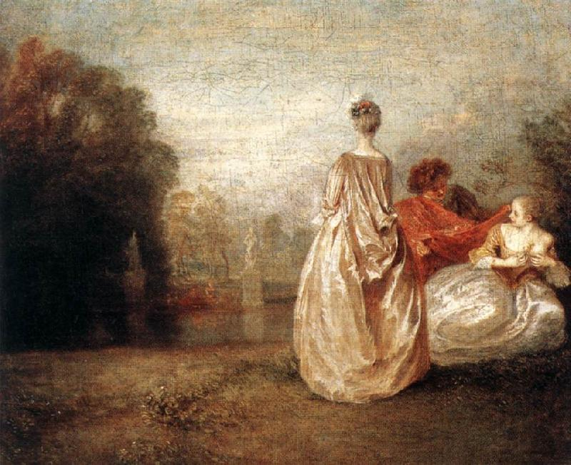 WATTEAU, Antoine Two Cousins oil painting image