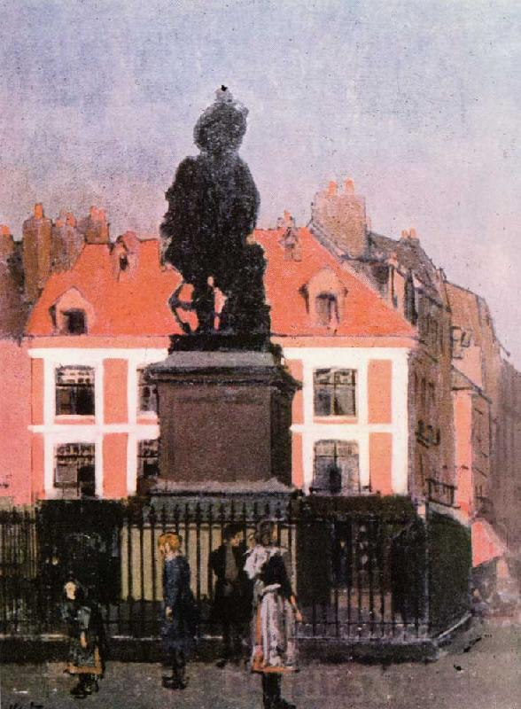 Walter Sickert The Statue of Duquesne, Dieppe Sweden oil painting art