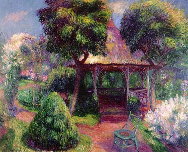 William Glackens Garden at Hartford Sweden oil painting art
