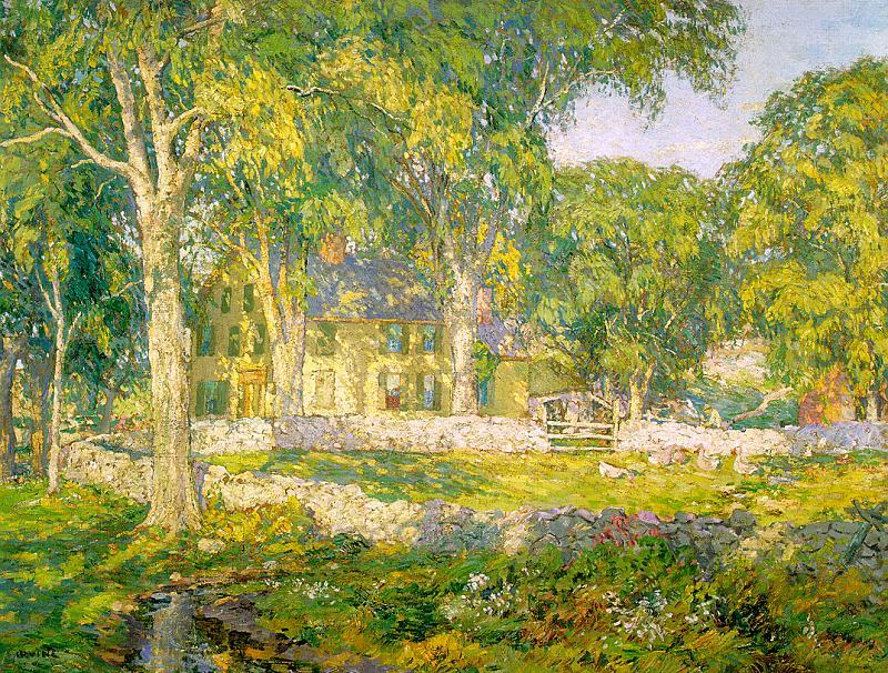 Wilson Irvine The Old Homestead Sweden oil painting art