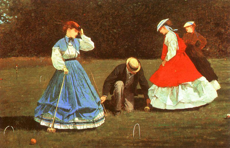 Winslow Homer The Croquet Game Sweden oil painting art