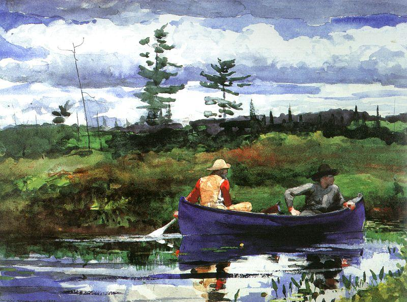 Winslow Homer The Blue Boat Sweden oil painting art