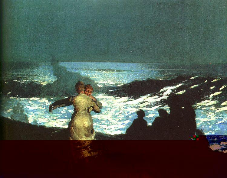 Winslow Homer Summer Night Sweden oil painting art