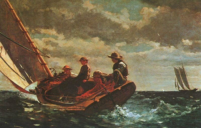 Winslow Homer Breezing Up Sweden oil painting art